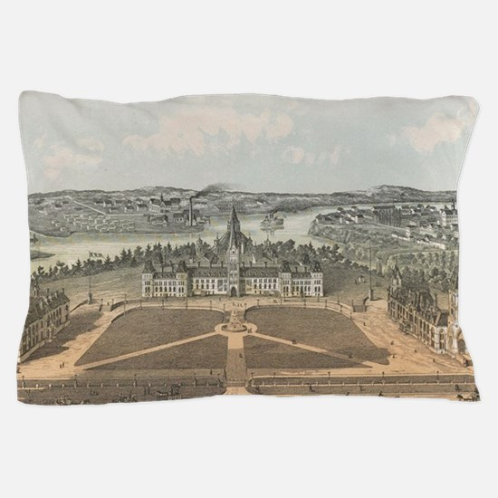 Vintage Ottawa Government Buildings Ma Pillow Case