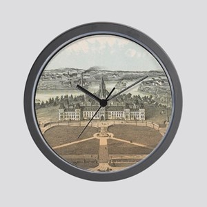 Vintage Ottawa Government Buildings Map Wall Clock