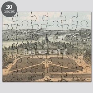 Vintage Ottawa Government Buildings Map (18 Puzzle