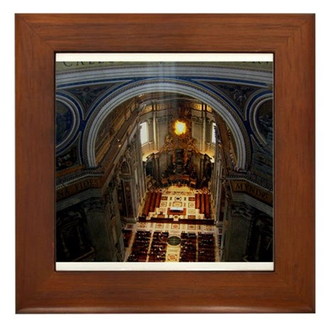 st. peter's basilica Framed Tile