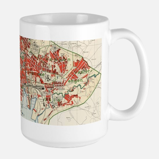 Vintage Map of Oslo Norway (1911) Mugs
