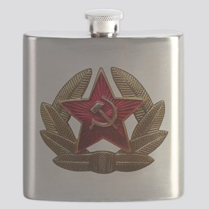 Soviet Soldier Insignia Flask