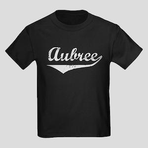 Aubree Vintage (Silver) Kids Dark T-Shirt