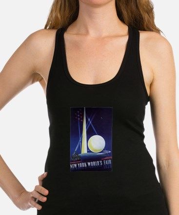 Vintage Travel Poster New York Racerback Tank Top