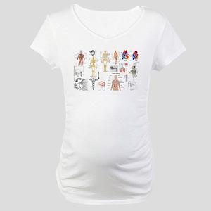 Human Anatomy Charts Maternity T-Shirt