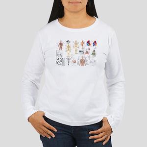 Human Anatomy Charts Long Sleeve T-Shirt