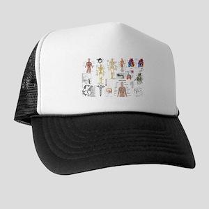 Human Anatomy Charts Trucker Hat