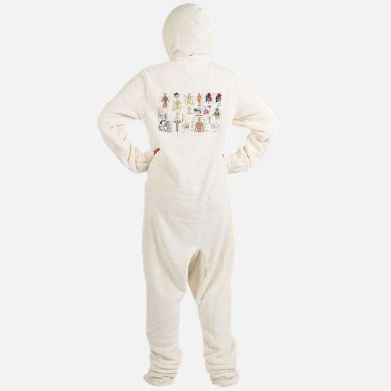 Human Anatomy Charts Footed Pajamas