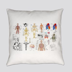Human Anatomy Charts Everyday Pillow