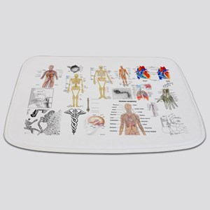 Human Anatomy Charts Bathmat