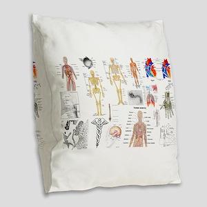Human Anatomy Charts Burlap Throw Pillow