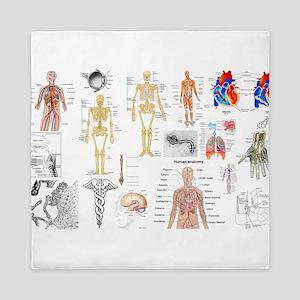 Human Anatomy Charts Queen Duvet