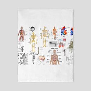 Human Anatomy Charts Twin Duvet
