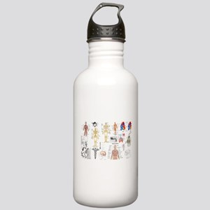 Human Anatomy Charts Water Bottle
