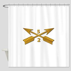 2nd Bn 5th Sfg Branch Wo Txt Shower Curtain