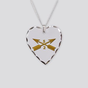 2nd Bn 5th SFG Branch wo Txt Necklace Heart Charm