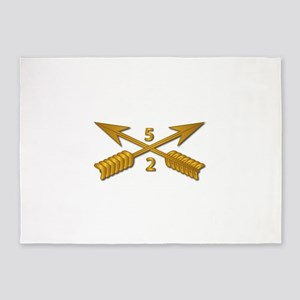 2nd Bn 5th SFG Branch wo Txt 5'x7'Area Rug