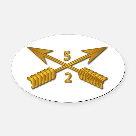 2nd Bn 5th SFG Branch wo Txt Oval Car Magnet