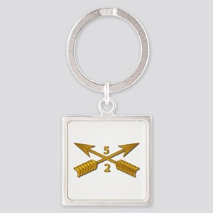 2nd Bn 5th SFG Branch wo Txt Square Keychain