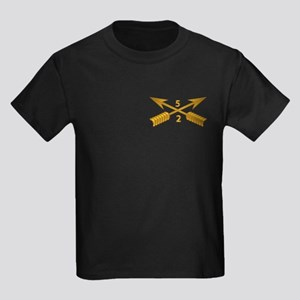 2nd Bn 5th SFG Branch wo Txt Kids Dark T-Shirt