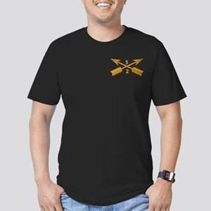 2nd Bn 5th SFG Branch Men's Fitted T-Shirt (dark)
