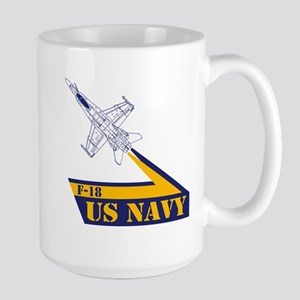 US NAVY Hornet F-18 Large Mug