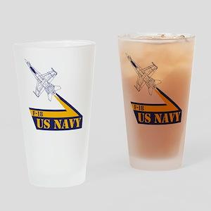 US NAVY Hornet F-18 Drinking Glass