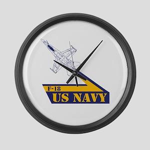 US NAVY Hornet F-18 Large Wall Clock
