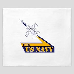 US NAVY Hornet F-18 King Duvet