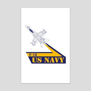 US NAVY Hornet F-18 Mini Poster Print