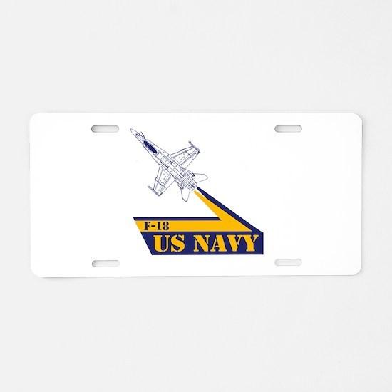 US NAVY Hornet F-18 Aluminum License Plate