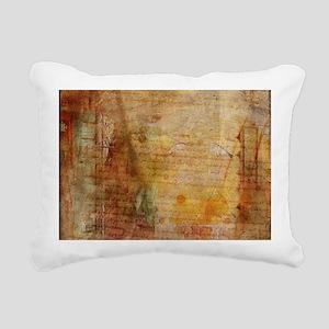 Antique Vintage Old Lett Rectangular Canvas Pillow