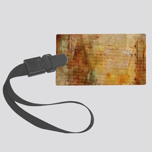 Antique Vintage Old Letters Text Large Luggage Tag