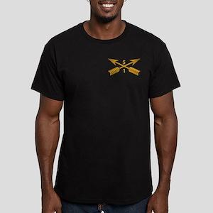 1st Bn 5th SFG Branch Men's Fitted T-Shirt (dark)