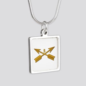 5th SFG Branch wo Txt Silver Square Necklace