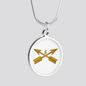 5th SFG Branch wo Txt Silver Round Necklace