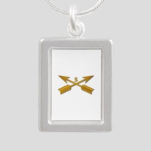 5th SFG Branch wo Txt Silver Portrait Necklace