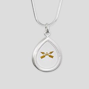 5th SFG Branch wo Txt Silver Teardrop Necklace
