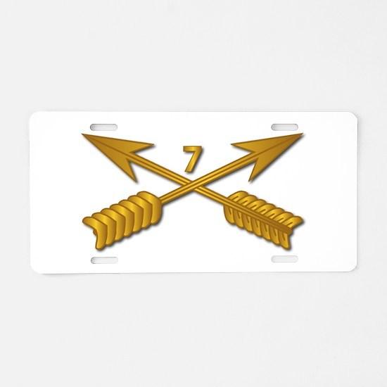 7th SFG Branch wo Txt Aluminum License Plate
