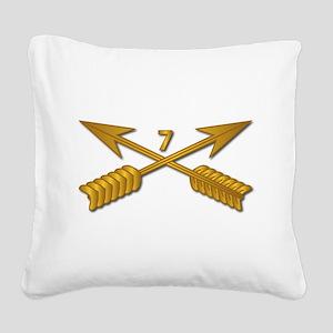 7th SFG Branch wo Txt Square Canvas Pillow