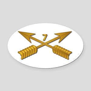 7th SFG Branch wo Txt Oval Car Magnet