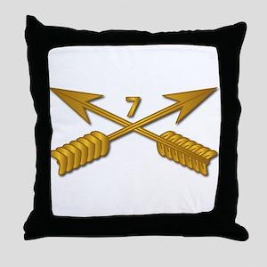 7th SFG Branch wo Txt Throw Pillow