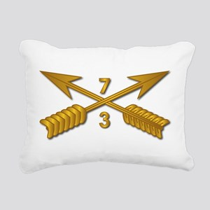 3rd Bn 7th SFG Branch wo Rectangular Canvas Pillow