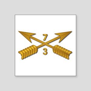 "3rd Bn 7th SFG Branch wo Tx Square Sticker 3"" x 3"""