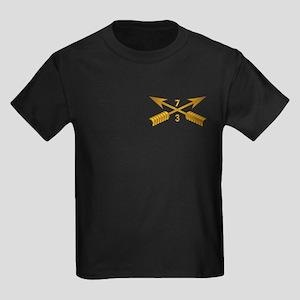 3rd Bn 7th SFG Branch wo Txt Kids Dark T-Shirt