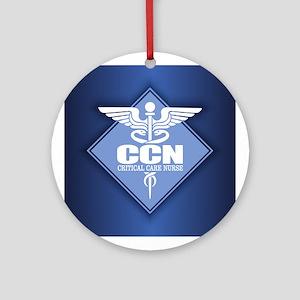 Critical Care Nurse Round Ornament