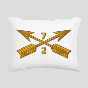 2nd Bn 7th SFG Branch wo Rectangular Canvas Pillow