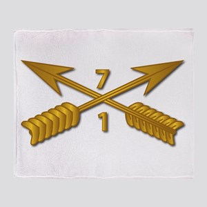 1st Bn 7th SFG Branch wo Txt Throw Blanket