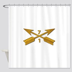 1st Bn 7th SFG Branch wo Txt Shower Curtain