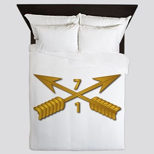 1st Bn 7th SFG Branch wo Txt Queen Duvet